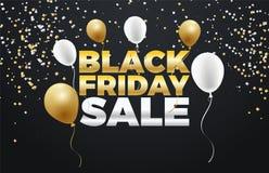 Черный дизайн знамени скидки специальной продажи 50% пятницы Стоковые Фото