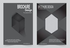 Черный дизайн рогульки шаблона брошюры бесплатная иллюстрация