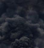 Черный дым от огня Стоковое фото RF