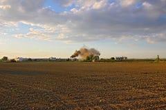 Черный дым от печной трубы Стоковое Изображение