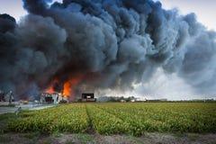 черный дым Стоковая Фотография