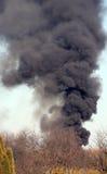 черный дым Стоковое Изображение