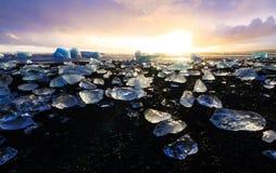 Черный лед Стоковая Фотография