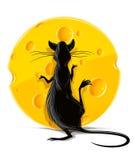черный желтый цвет крысы иллюстрации еды сыра иллюстрация вектора