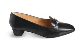 черный женский ботинок Стоковое Изображение