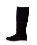 Черный женский высокий ботинок Стоковые Изображения RF