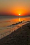 черный заход солнца Украина моря Крыма Стоковые Изображения RF