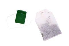 черный зеленый пакетик чая чая ярлыка Стоковые Фотографии RF