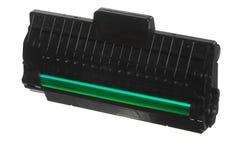 Черный зеленый патрон изолированный на белизне. Оборудование технологии. Стоковые Изображения RF