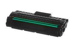 Черный зеленый патрон изолированный на белизне. Оборудование технологии. Стоковые Фотографии RF