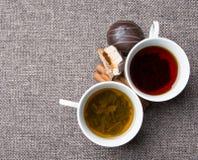 черный зеленый чай Стоковое Изображение RF