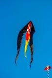 Черный змей в небе Стоковые Фото