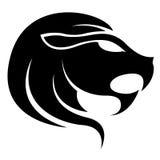 Черный знак звезды зодиака Лео Стоковые Фотографии RF