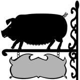 Черный знак свиньи Стоковая Фотография