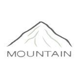 Черный значок горы иллюстрация вектора