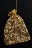 черный золотистый мешок Стоковое Изображение
