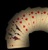 черный играть карточек Стоковые Фотографии RF