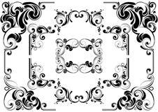 Черный дизайн угла Стоковые Фотографии RF
