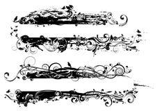 Черный дизайн ярлыка Стоковое Фото