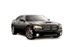 черный изолированный автомобиль Стоковые Фотографии RF