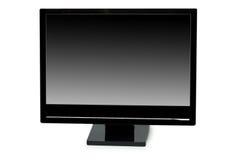 Черный изолированный монитор lcd Стоковое Фото