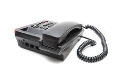 Черный изолированный телефон IP Стоковые Изображения