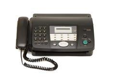 черный изолированный факс стоковое изображение