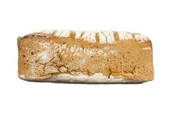 Черный изолированный хлеб Стоковое Изображение RF