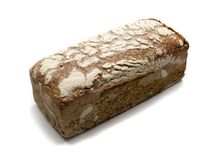 Черный изолированный хлеб Стоковое Фото