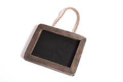 черный изолированный chalkboard немногой белому Стоковое Изображение