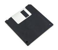 черный изолированный дискет Стоковые Фото