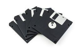 черный изолированный дискет Стоковые Изображения RF