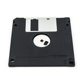 черный изолированный дискет Стоковое Изображение