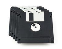 черный изолированный дискет Стоковые Фотографии RF