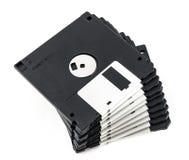 черный изолированный дискет Стоковые Изображения