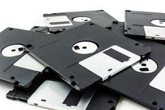 черный изолированный дискет Стоковое фото RF