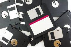 черный изолированный дискет Стоковое Фото