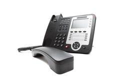 Черный изолированный телефон IP Стоковые Изображения RF