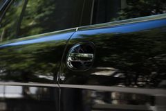 черный лимузин Стоковая Фотография RF
