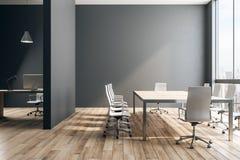 Черный интерьер офиса иллюстрация штока