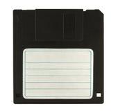 Черный дискет на белой предпосылке Стоковое Фото