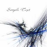 Черный и голубой на белой фрактали иллюстрация штока