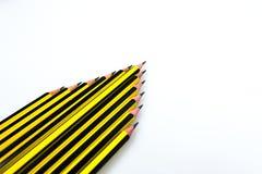 Черный и желтый карандаш нашивок Стоковые Фотографии RF