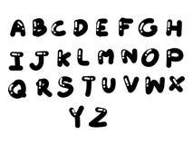 Черный и круглый комплект шрифта Стоковые Изображения