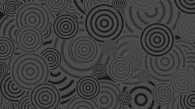 Черный и серый цвет звенит абстрактная видео- анимация иллюстрация штока