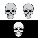 Черный и серый череп Стоковая Фотография