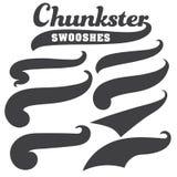 Черный кабель шрифта текста swoosh squiggle для дизайна футболки бейсбола иллюстрация штока