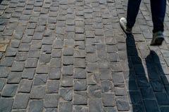 Черный каменный пол блока Стоковое Фото