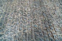 Черный каменный пол блока Стоковые Фотографии RF