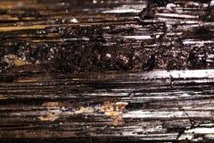 Черный камень турмалина Стоковая Фотография